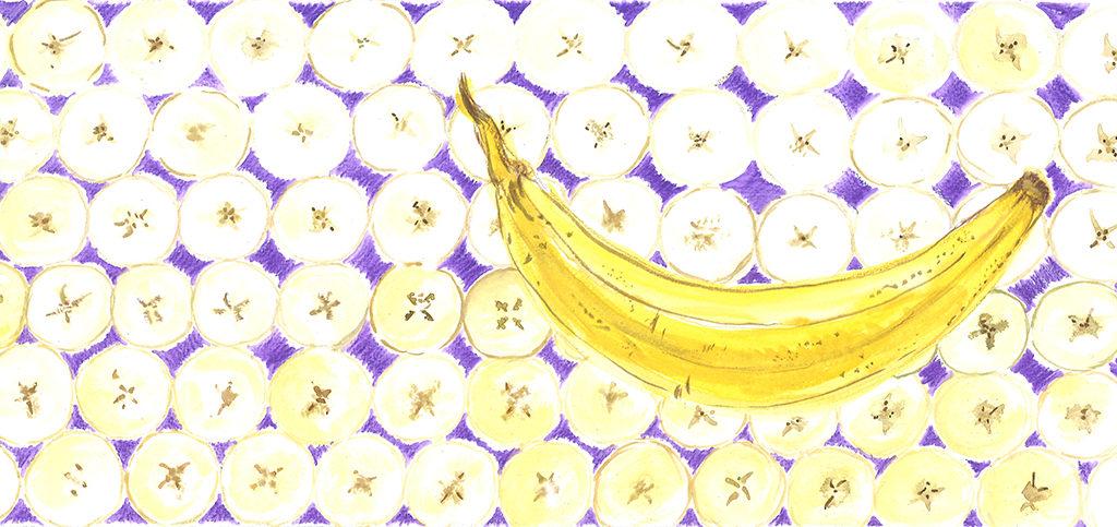 Banane, aquarelle